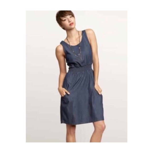 GAP Dresses & Skirts - Gap 1969 Denim Dress with Tie Back and Pockets